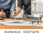 architecture drawing on... | Shutterstock . vector #420271678