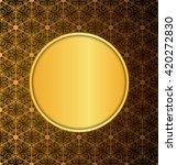gold vintage invitation...   Shutterstock .eps vector #420272830