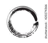 circle shape vector black... | Shutterstock .eps vector #420274366