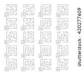 big set of mazes  | Shutterstock .eps vector #420277609