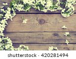 flowering branch cherry blossom ...   Shutterstock . vector #420281494