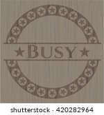 busy badge with wooden... | Shutterstock .eps vector #420282964