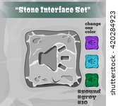 stone user interface element 10....