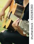 playing guitar | Shutterstock . vector #420285283