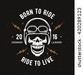 vintage motorcycle t shirt... | Shutterstock .eps vector #420289123
