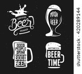 beer related typography. vector ... | Shutterstock .eps vector #420289144