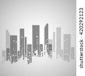 city buildings. vector... | Shutterstock .eps vector #420292123