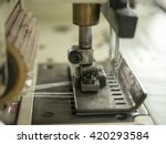 double needles on sewing... | Shutterstock . vector #420293584