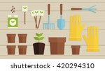 vector illustration. gardening... | Shutterstock .eps vector #420294310