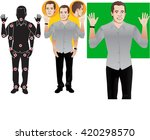 young man cartoon character in... | Shutterstock .eps vector #420298570