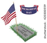 Happy Memorial Day. Template.