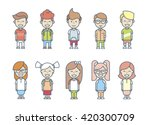 set cartoon children's... | Shutterstock .eps vector #420300709