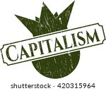 capitalism grunge seal | Shutterstock .eps vector #420315964