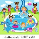 illustration of kids having a... | Shutterstock .eps vector #420317500