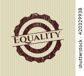 equality rubber grunge seal | Shutterstock .eps vector #420329938