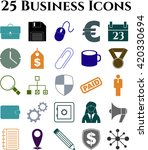 25 icon set. business icons.... | Shutterstock .eps vector #420330694