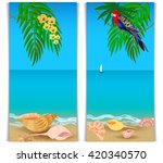 two vertical banners with a... | Shutterstock .eps vector #420340570