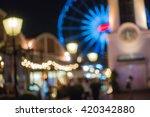 city night light blur bokeh  ... | Shutterstock . vector #420342880