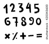 vector set of numbers and... | Shutterstock .eps vector #420343600