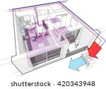 3d illustration of apartment... | Shutterstock .eps vector #420343948