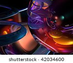 3d colorful abstract render