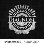 diagnose chalkboard emblem on... | Shutterstock .eps vector #420348814