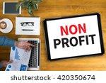 non profit businessman working... | Shutterstock . vector #420350674