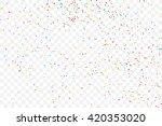 colorful explosion of confetti. ... | Shutterstock .eps vector #420353020