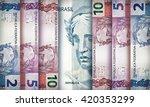 brazilian real bills creating a ... | Shutterstock . vector #420353299