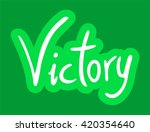 victory message | Shutterstock .eps vector #420354640
