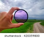 landscape through a filter in... | Shutterstock . vector #420359800