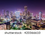 houston  texas  usa downtown... | Shutterstock . vector #420366610
