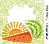 carrot and sun organic food... | Shutterstock .eps vector #420371023
