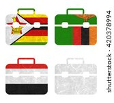 nation flag. bag recycled paper ... | Shutterstock . vector #420378994