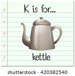 flashcard letter k is for... | Shutterstock .eps vector #420382540