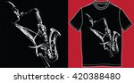 T Shirt With Saxophonist  ...