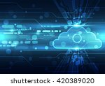 abstract cloud technology... | Shutterstock .eps vector #420389020
