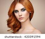 portrait of beautiful sensual...   Shutterstock . vector #420391594