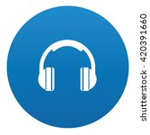 earphone icon design on blue... | Shutterstock .eps vector #420391660