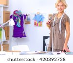 young fashion designer working... | Shutterstock . vector #420392728