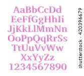 3d alphabets with number in...   Shutterstock . vector #420396679