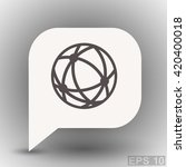 pictograph of globe | Shutterstock .eps vector #420400018