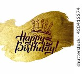 happy birthday greeting card.... | Shutterstock .eps vector #420413374