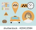 set of different situations... | Shutterstock .eps vector #420413584