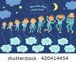 sleep and cycle of life. how... | Shutterstock .eps vector #420414454