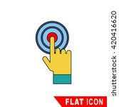 hand touching icon | Shutterstock .eps vector #420416620