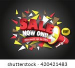 sale now on with abstract...   Shutterstock .eps vector #420421483