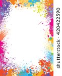 frame template made of paint... | Shutterstock .eps vector #420422590