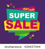 sale banner vector. 50 off.... | Shutterstock .eps vector #420427444