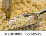 popcorn in scoop in popcorn...   Shutterstock . vector #420429250